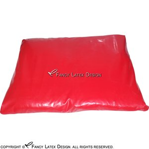Red Sexy Latex Cushion Covers With Zip At Back Rubber cusion covers 0.4 mm Latex Sheet SEX-0039