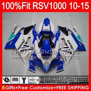 Injeção Para Aprilia RSV1000R 2010 2011 2012 2013 2014 2015 77NOAA azul branco RSV1000 R Mille RSV 1000R RSV1000 10 11 12 13 14 15 Fairing