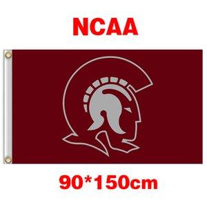 NCAA Arkansas Little Rock Troianos Equipe bandeira de poliéster 3ft * 5ft (150 cm * 90 cm) Bandeira Bandeira decoração voando presentes jardim de casa