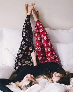Wholesale- Women Autumn Winter Warm Leggings Christmas Snowflake Cotton Leggings Casual Slim Clothes Wear