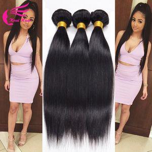 En gros-7a Grade Non Transformés Vierge Brésilienne Cheveux Raides 2 Bundles Bon Pas Cher Cheveux Humains Brésiliens Cheveux Weave Bundles Aucun Rejet