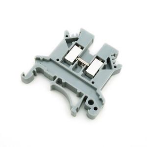 Morsetto passante 10PCS Tipo combinato 24-12 AWG 24 A 690 V UK-2.5B Connettore grigio grigio