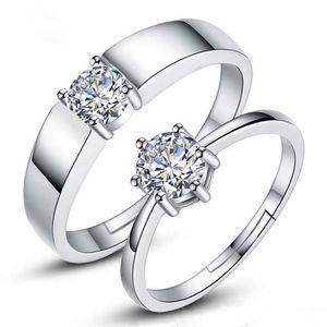 Forever Love Обручальные кольца пара Пара Кольца Мужчины ювелирные изделия регулируемый размер Посеребренные моды кольцо для свадьбы будет и песчаная