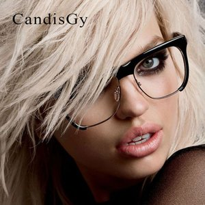 Wholesale- Square Half Rims Glasses Fashion Frame  Designer Men Women Optics Classic Eyeglasses Cheap Clear Transparent Lens