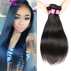 Preiswertes gerades menschliches Jungfrau-Haar 4 Bündel peruanisches gerades Menschenhaar spinnt Großhandel 100g reines Haar gerade Verlängerungen