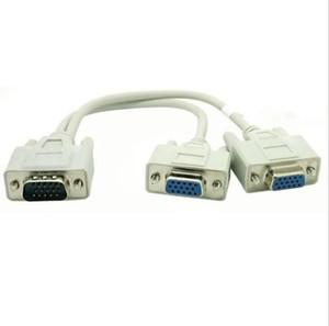 1 PARA 2 CABO SPLITTER VGA MONITOR VGA SVGA 15 PINO 1 VGA Macho para 2 VGA Fêmea x100