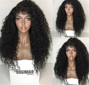 150 % 밀도 kinky 곱슬 전체 레이스 인간의 머리 가발 브라질 전체 레이스 가발 곱슬 레이스 프런트 가발 아기 머리를 가진 흑인 여성을위한