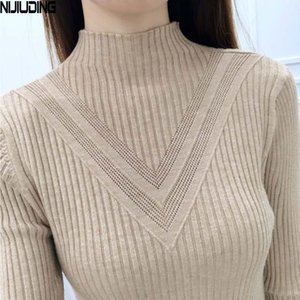 Fashion Winter Women Turtleneck Long-sleeve Knitted Sweater Female Knitted Pullover Solid Basic Warm Women Clothing
