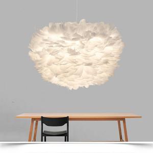 Nordic Lanterna penas ninho chandelier luminária droplight Cafe loja Hotel Home Living Room Decor Fixação PA0255