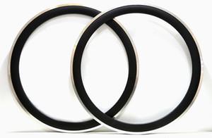 Envío gratis 700C 23mm Ancho de la aleación superficie de freno ruedas de carbono 50mm de profundidad Clincher Road Bike solo borde 3k acabado mate etiqueta personalizable