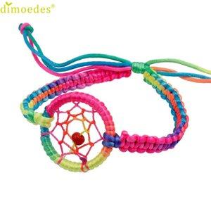 Vente en gros - Diomedes Gussy Life 8 gros 1PC Mode Cuir Mignon Charme Campanula Dream Catcher Bracelet Jan17