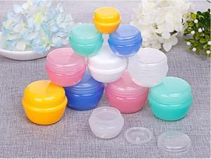 Mushroom Forma 10ML G plastica barattoli con coperchio e interne Liners | Svuotare Lozione Contenitori / Viaggi Crema Contenitori - per lo zucchero Scrub, Cosmetic