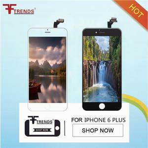 Grau a +++ para iphone 6 6 plus display lcd touch screen digitador com quadro completo painel de vidro de montagem completa 100% testado