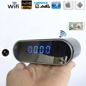 1080P WiFi P2P Настольные часы IP-камера ночного видения 160 градусов широкий угол цифровой будильник DVR Live View удаленный монитор няня камера