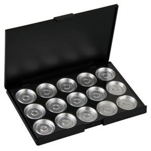 """15 PCS 26mm vuoto """"Magnetico"""" la gamma di colori con l'alluminio Pans attrezzi di trucco Cosmetici fai da te Box Paleta de sombras"""