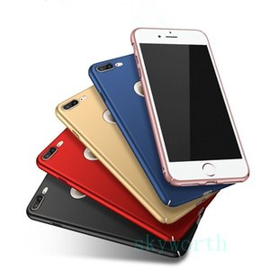 Ultra-İnce Mat Sert geri case iphone X 8 7 6 s artı İnce PC anti-sctraches Buzlu samsung galaxy Not 8 s7 kenar Zırh