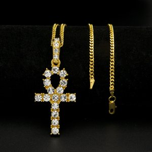 Pendant Hip Pendant Jewelry Necklace Egyptian Anhe Key Cross Hop Punk Necklace & Women Men Wholesale Jewelry Pptxm