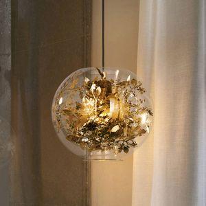 Nordic European led lámparas colgantes led arañas de cristal nuevo diseño globo redondo led luces colgantes restaurante villa comedor hotel hall