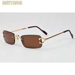 com claras óculos caixa de 2020 homens da forma dos esportes óculos sem aro homens moda mulheres óculos de sol de ouro, prata chifre estrutura metálica búfalo