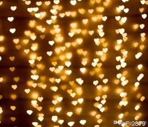 5x7ft 비닐 발렌타인 반짝이 사랑의 하트 사진 스튜디오 배경