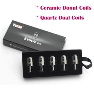 Newest Yocan Replacement Coils For Yocan Evolve Plus Kit QDC Quartz Dual Coils & Ceramic Donut Coils