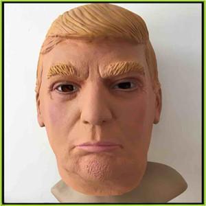US Président M. Donald Trump Latex Masque Masque Complet Masque Costume Party Masque Halloween Masque Frais De Bonne Qualité