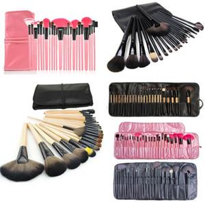 New Brush sets 24pcs Professional Cosmetic Kits Foundation Powder Blush Eyeliner Artist Brushes Tool free shipping