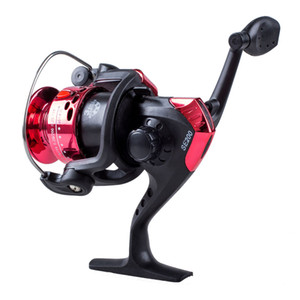 3BB Ball Bearings Left Right Interchangeable Collapsible Handle Fishing Spinning Reel SE200 5.2:1 with High-tensile Gear (Red)