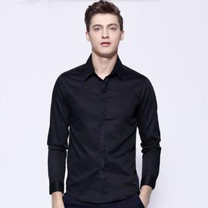 خياط صنع الرجال الدعاوى قميص طويل الأكمام زفاف العريس البدلات الرسمية قميص بسيط أزياء العمل الرسمي الدعاوى قميص