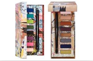 New 8 cores da sombra Stila Maquiagem Dos Olhos COMO ARTE Jean Michel Basquiat Paleta Da Sombra de Tenant Ouro Griot Tom Neutro Sombra com escova