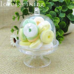 خمسة ألوان اختيار -- 20PCS Acrylic Clear Mini Cake Stand Wedding Best Books Baby Dashh party Sweet Table Reception Decor Candy Boxs
