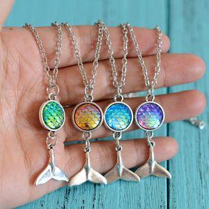 Escala de peces sirena collar de la cola del collar Cabochon nuevas mujeres del diseñador de joyas de diseño collar de lujo de la voluntad y el regalo de la joyería de moda de arena
