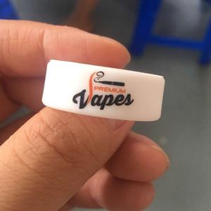 넓은 사용자 정의 로고 Vape 밴드 Silicone Rings vape 밴드 12mm 너비로 인쇄 된 로고 고무 밴드