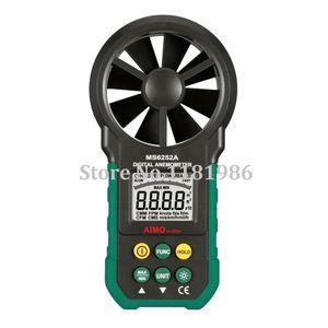 All'ingrosso-AIMO / aimometer Volume qualità digitale MS6252A alta anemometro manuale di velocità del vento dell'aria metro di misura con retroilluminazione