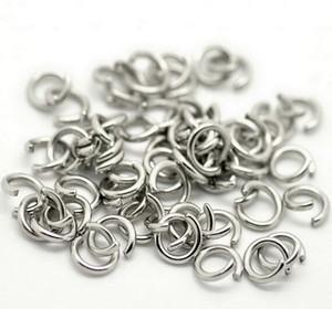 Оптовая сильная нержавеющая сталь открытый прыжок кольцо Сплит кольцо 5x1mm / 6*1mm / 7*1mm / 8*1mm ювелирные изделия Поиск серебро полированный мода DIY BLING