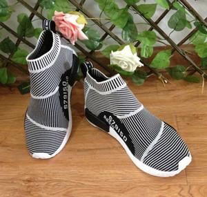 Fashion High Boots Frauen Männer Stadt Socke Primeknit Zebra-Schwarz-Weiß-Marken-Entwerfer Schuhe Qualitäts-Verkauf-freies Verschiffen
