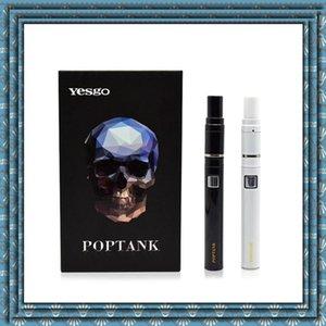 Новые Yesgo Poptank сухой травы Wax испаритель Электронная сигарета 650mAh Батарея Керамический Coil Испаритель Pen E-сигареты Vapor высокого качества DHL