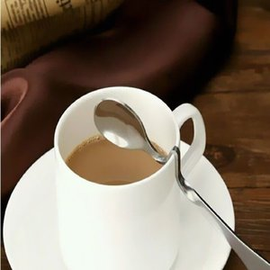 Coffee Stainless Steel Curved Kitchen Tea Soup Spoon Tableware Lovely