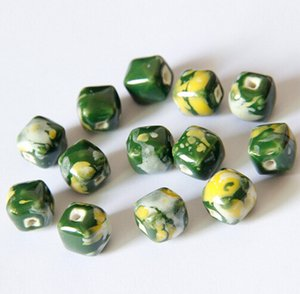 free shipping Porcelain Beads, mixed colors,DIY accessories ceramic loose beads, sold per bag of 100 pcs