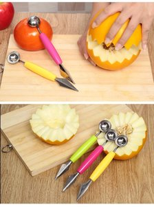 Frutta in acciaio inox scavare la palla è scolpita anguria Shaowaqiushao coltello piatto di frutta artefatto strumento gelato
