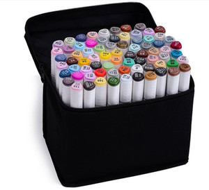 TOUCHSeven Art Marker pen Marca de doble cabeza Set 218Colors Mark Pen Alcohol aceite Animación Diseño Pintura Sketch Markers