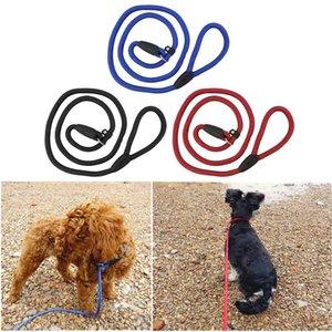 Туба Регулируемая Собака Нейлон Веревка Обучение Поводок Скольжения Ведущий Ремень Тяги