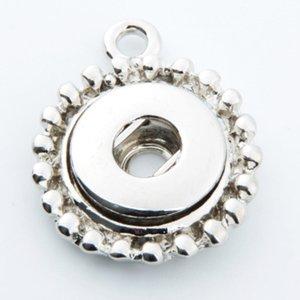 실버 싱글 EarDouble 귀 스냅 단추 자료 쥬얼리 펜던트 액세서리 12MM에 적합 DIY Snap Button Charm