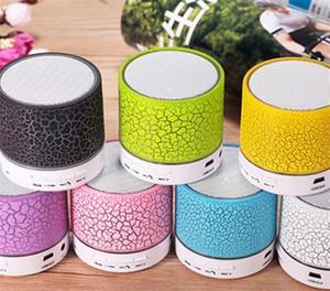 Mini portátil A9 crackle textura Bluetooth Speaker com luz LED pode inserir U disco, jogador do telefone móvel com caixa de varejo livre DHL
