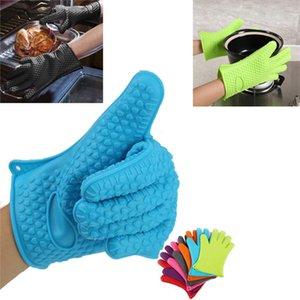 Барбекю перчатки пищевой термостойкие толстые силиконовые кухня барбекю печь приготовления перчатки Барбекю гриль перчатки печь Митт выпечки перчатки
