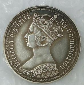 Великобритания 1 Флорин-Виктория 1870 Великобритания Англия Великобритания Бесплатная доставка