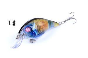 2pcs of Plastic Fake Lures Fish Fishing Bionic Topwater Fishing Lure Artificial Bait Hard Crankbait Pesca Tool Hooks