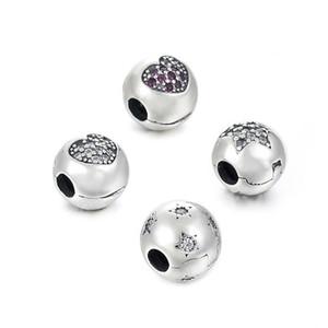 Preço de fundo Clipe Charme Bead 100% Authentic 925 Sterling Silver Bead Fit Pandora Original Pulseira Mulheres Jóias DIY Berloque