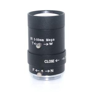 """5-50mm CS LENS 1/3 """"IR CS Varifocal manual Iris HD MP CCTV Lens para cámaras de seguridad BOX"""