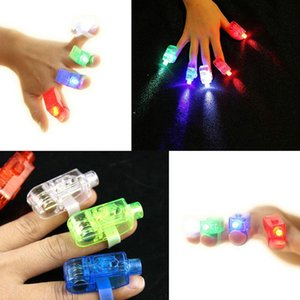 X1000 pz Novità Giocattoli bavaglio LED Finger Light Glowing Dazzle Color Emitting Ring Laser Light-Up Giocattoli per regali di compleanno per bambini